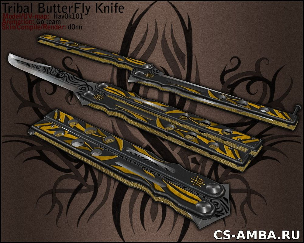Tribal ButterFly On ImBrokeRU's Paincake Knife