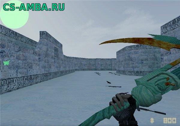Модель Knife Dragon Fire для Counter-Strike 1.6