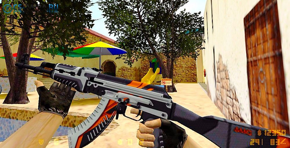 AK 47 | Orange «Vulcan» HD для Cs 1.6