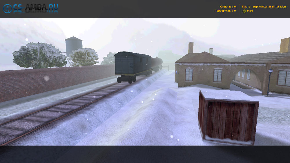 Карта [Awp_Winter_Train_Station] для CS1.6